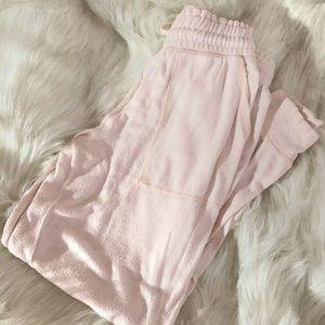 Aerie Light Pink Plush Joggers